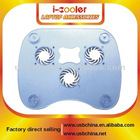 Arylic material laptop cooler pad with 3 fan 4 hub
