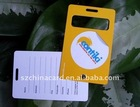 Hard plastic luggage tag for promotion