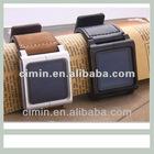 Iwatchz genuine leather wrist band for ipod nano 6 watch case