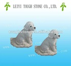 CARVING STONE SCULPTURE DOG