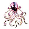 Gold Plated Brooch Octopus Design with Amber Head and lots Crystal, 2012 Fashion new style Brooch