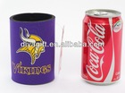 Hot selling 5mm neoprene beer can cooler with bottom