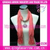 High quality necklace scarf decorated with pendant scarf