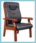 Solid Wood Frame Boardroom Chair.