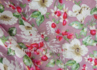 Beautiful flower printed flax fabric