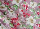 Beautiful flower printed flax fabric