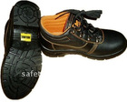 Feet protective buffalo leather PU injection steel toe steel sole safety working shoes CE EN 20345 standard