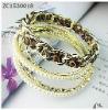 pearl nylon fabric alloy bracelet