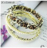 pearl nylon fabric alloy bracelet