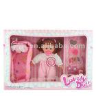 """16"""" B/O fashion baby doll funny vinyl stuffed doll baby reborn dolls with 4 kinds sound IC Happy doll"""