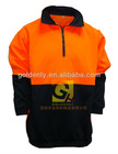 Hivis long sleeve safety outwear with half zip