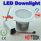 7W led Downlight Ceiling light with 7 led lights 85~265V