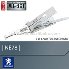 Locksmith Tools pick-Genuine LISHI 2 in 1 pick and decoder NE78