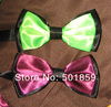 burgundy and green polyester mens bow tie