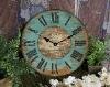 """Shabby Retro 12"""" Shabby Decorative Wood Wall Clock"""