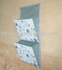 Two pockets Printed Canvas hanging closet organizer in bathroom