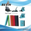 multi-color and straight rotating leather case for ipad3