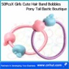 50PcsX Girls Cute Hair Band Bobbles Pony Tail Elastic Boutique02