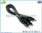 Hot sell 2 RCA female to RCA male with Audio and Video cable