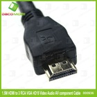 High Speed 5FT HDMI/VGA/3RCA Cable
