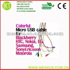 Colored micro usb cable for samsung,usb 2.0 cable(citroen obd cables)