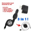 Retractable Cable Charger Package for Iphone4