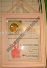 Baby handprint and footprint inkpad impression Photo Frame