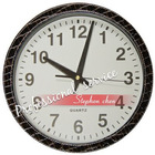 leather wall quartz clock