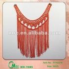 100%rayon fringge neck trim/crochet motif/collar