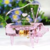 Pink crystal music box