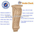 antique home decorative wood jumbo basket weave wood corbel(EFS-YCY-085)