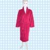 Bathrobe / collar fleece bathrobe