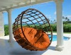 GH-HM-10,GOGOHOME Rattan/ Wicker Hammock, Outdoor Leisure Hammock, Garden Patio Swing Chair, Haning Chair