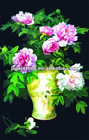3D lenticular flower design pp placemat