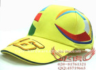 New model caps F1 46 Rossi racing hat/ baseball cap /Golf Hats caps Yellow