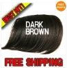Dark Brown Hair Bangs CLIP ON BANGS SIDE LONG 5colors