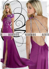 AZP017 One shoulder Sweetheart Seath Organza Prom dresses