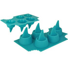 New Brand Food Grade Silicone Shark Fin Ice Cube Tray