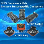 6 PIN Connector for pressure transducer transmitter