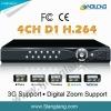 4CH dvr cctv surveillance /cctv dvr recorder(D7104A-U)