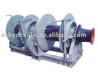Hydraulic double drum mooring winch