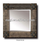Antique Wood Country Mirror for Wall Decor