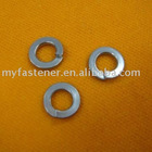 Spring lock washer with square ends or tang ends