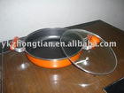 double fry pan with glass lid
