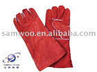 "16"" Cow Leather Excellent Welding gloves (HL402F-R)"