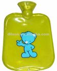 Transparent PVC Hot Water Bottle With Printing