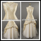 Gorgeous Custom-make Deep V-neck A-line Ruffle Ladylike Evening /Prom Dress XYY-mal20