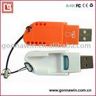 Folding TF Card Reader/Micro SD card reader/SSK card reader