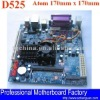 lvds motherboard D525 for POS, hotel, bank