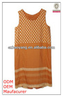 high fashion rounded collar print tank tops in bulk